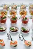 Catering finger food. On a white plate Stock Image