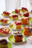 Catering, fingerfood, cake Stock Photos