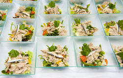 Catering food. Different kinds of fish on a plate Royalty Free Stock Photos