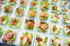 Catering food. Different kinds of fish on a plate Stock Photography