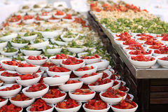 Catering food. At a wedding party Royalty Free Stock Images