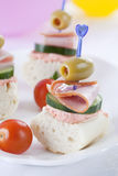 Catering Food. With some decoration on the background Stock Photo