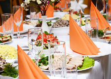 Catering food. At a wedding party Stock Photo
