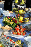 Catering food. At a wedding party Stock Photos