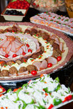 Catering food. Divers catering food at a party Stock Photos