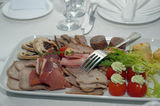 Catering food. Shot of catering food on the table during ceremony Royalty Free Stock Images