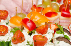 Catering Food. Closeup Photo Of Delicious Catering Food Royalty Free Stock Images