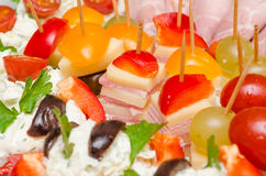 Catering Food. Closeup Photo Of Delicious Catering Food Royalty Free Stock Photography