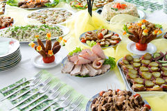 Catering food. At a party. In Lithuania Royalty Free Stock Photos