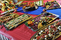 Catering  food. Catering food at a wedding party Stock Image