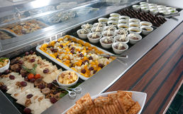 Catering food at a celebration. Catering food at a big celebration stock image