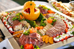 Catering food, close up Royalty Free Stock Images