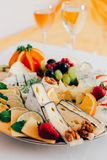 Catering food. Luxury food on wedding table. Catering Stock Photos