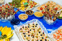 Catering food at a party Royalty Free Stock Photo