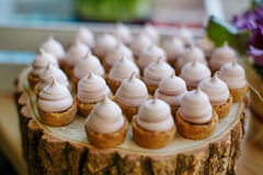 Catering food on plate Royalty Free Stock Images