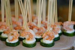 Catering food on plate Stock Photography