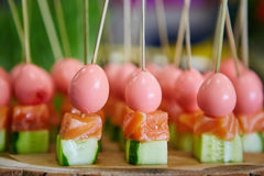 Catering food on plate Royalty Free Stock Photos