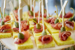 Catering food on plate Stock Images