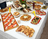 Catering food restaurant Stock Image