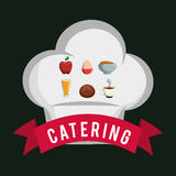 catering food service chef hat shape breakfast poster Royalty Free Stock Images