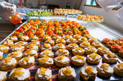 Catering food specialities royalty free stock photos
