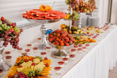 Catering food for wedding. Buffet royalty free stock photos