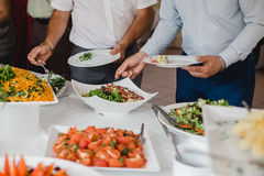Catering food for wedding Stock Photo
