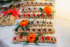 Catering food wedding buffet. Event Royalty Free Stock Image