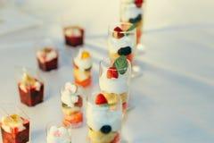 Catering food wedding buffet. Event Stock Photos