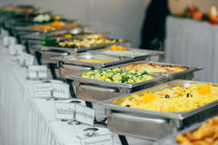 Catering food wedding buffet. Event Stock Photo