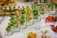 Catering food wedding buffet. Catering and food for wedding and events stock photography