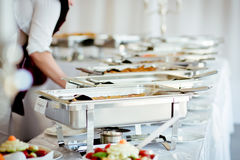 Catering Food Wedding Event. Table royalty free stock image
