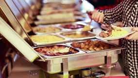 Catering Food Wedding Event stock video footage