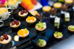 Catering food. At a wedding party royalty free stock photo