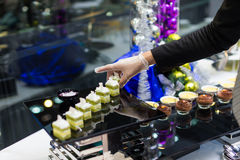 Catering food. At a wedding party Royalty Free Stock Image