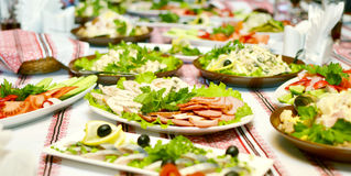 Catering food. At a wedding party royalty free stock photos