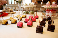 Catering food. At a wedding party,indoor wedding scene Royalty Free Stock Image