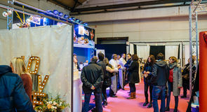 Catering food for wedding at Salon du Marriage wedding fair Fran Royalty Free Stock Image