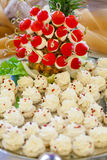 Catering food. For wedding on the table Royalty Free Stock Photography