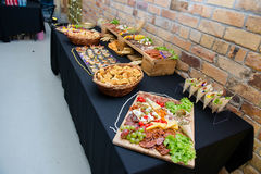 Catering - Foon Na talerzach Obrazy Stock