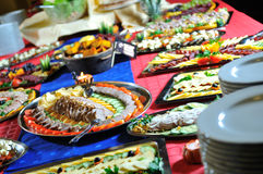 Catering fresh and teasty food royalty free stock photos