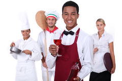 Catering industry. People from the catering industry poising for a picture Royalty Free Stock Photo