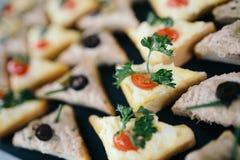 Catering kanapki Obraz Royalty Free