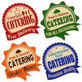 Catering label, sticker or stamps Royalty Free Stock Images