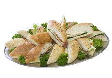 Catering Lunch Platter Royalty Free Stock Photo