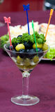 Catering - olives appetizer 2. Catering - olives appetizer in glass Royalty Free Stock Photography