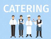 Catering-Personal-Wort-Konzept-Fahne lizenzfreie abbildung