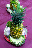 Catering - pineapple. Appetizer on the board Royalty Free Stock Photos