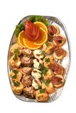 Catering plate. With tomatoes and oranges Stock Photography