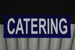 Catering. Plate in academy building Stock Photos